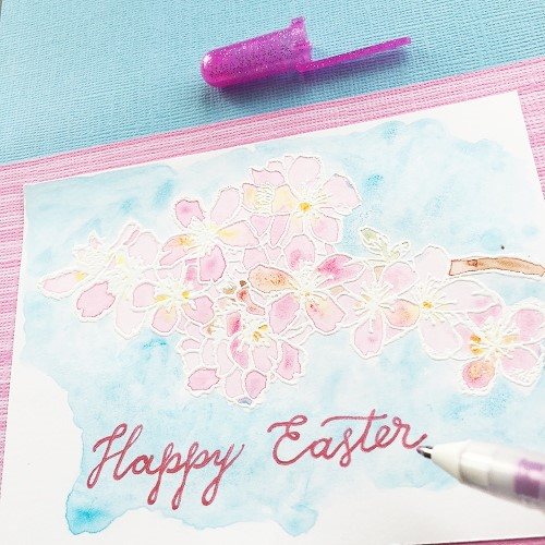 @csmscrapbooker @kellycreates @sakuraofamerica #sakura #pens #card #coloring #koi #watercolor #coredinations @iostamps #stamping