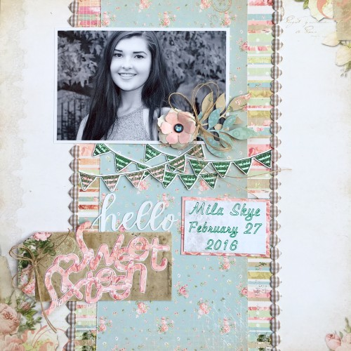@csmscrapbooker @cdnscrapbooker @bobunny @kellycreates #scrapbooking #birthday #sketch #soiree