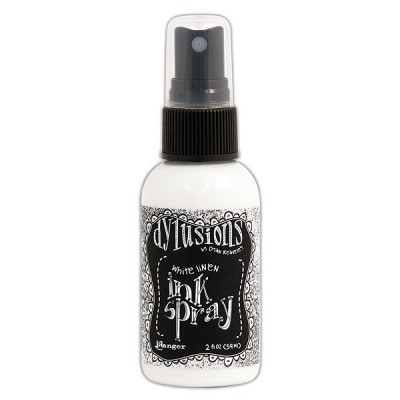 Dylusions white linen ink spray