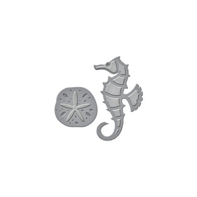 Seahorse and Sand Dollar