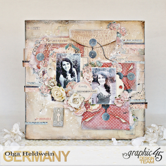 @csmscrapbooker #graphic45 #TheGreatCanadianScrapbookCarnival #OlgaHeldwein