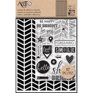 Art-C, stencil, stamps, scrapbooking, chevron stencils, Creative Scrapbooker Magazine, csmscrapbooker