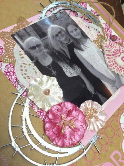 Milagros C Riverea, southern ridge trading co, prima flowers, scrapbooking, layouts, black and white photos