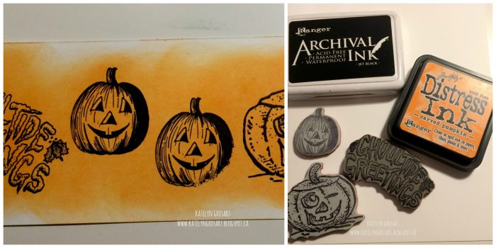 halloween, pumpkins, ranger, ranger archival ink, ranger distress ink, ranger carved pumpkin distress ink, stamping, halloween decorations, halloween diy