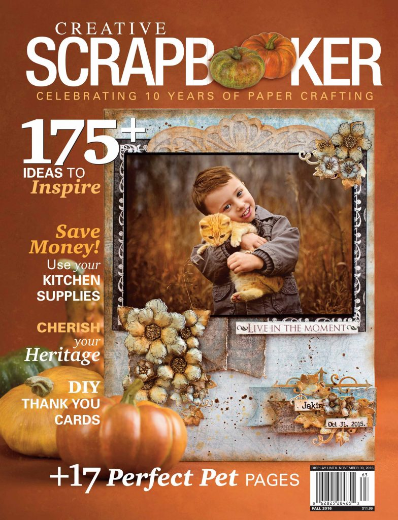 Creative Scrapbooker Magazine, crafts, magazine, Canadian, scrapbooking, card making, paper crafts, stamping, pets, save money, heritage, layouts, mixed media, pet layouts,diy cards