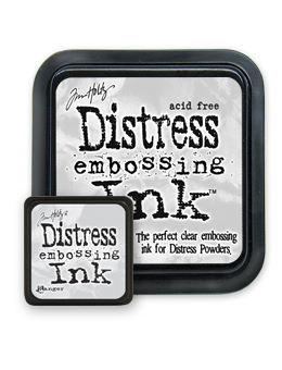 Tim Holtz, embossing ink, Tim Holtz embossing ink, Tim Holtz distress embossing ink, stamping, inking, mixed media, Creative Scrapbooker Magazine, csmscrapbooker