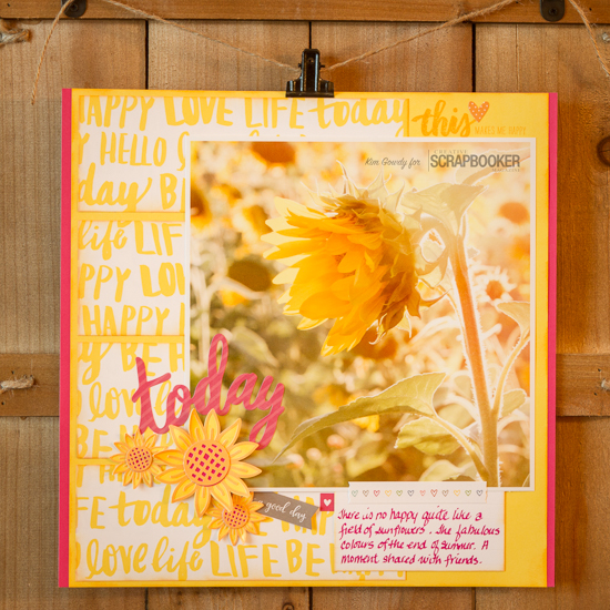 @csmscrapbooker #creativescrapbookermagazine #closetomyheart #sunflower #today #yellow, close to my heart, csmscrapbooker, sunflower, ink, stamping, today, scrapbooking