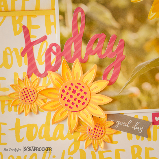@csmscrapbooker #creativescrapbookermagazine #sunflower #yellow #closetomyheart #cricut #flowermarket #flower