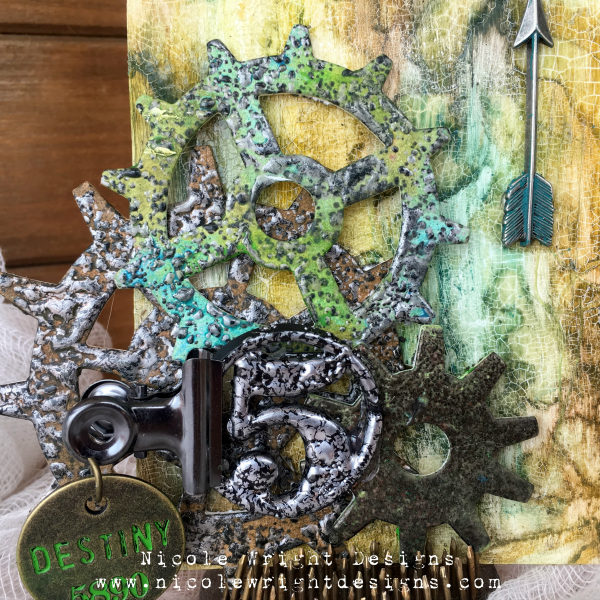 @csmscrapbooker @ranger @sizzix @emeraldcreekcraftsupplies Nicole Wright, altering tags, embossing powder, stencils, sizzix dies, ranger distress crayons, distress crayons, thick embossing, charm, mixed media, Creative Scrapbooker Magazine csmscrapbooker