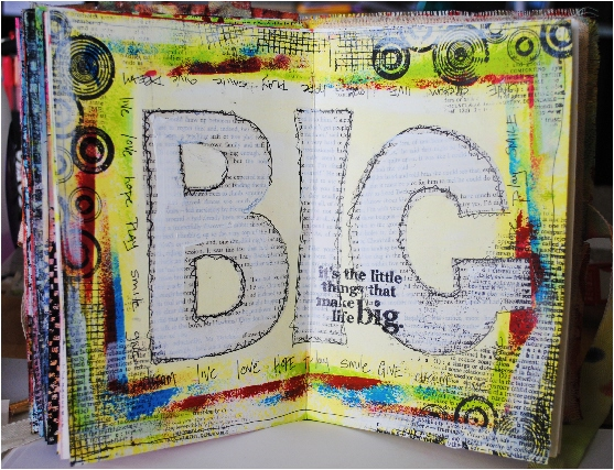 art jouranaling, art journal, christy riopel, scrapbooking, mixed media, creative scrapbooker magazine, csmscrapbooker,