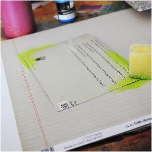fancy pants designs, ledger paper, creating a frame, chromacolour paint, mixed media, scrapbooking, creative scrapbooker magazine, csmscrapbooker