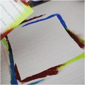 creating a frame, fancy pants designs, ledger paper, mixed media, scrapbooking, creative srapbooker magazine, csmscrapbooker