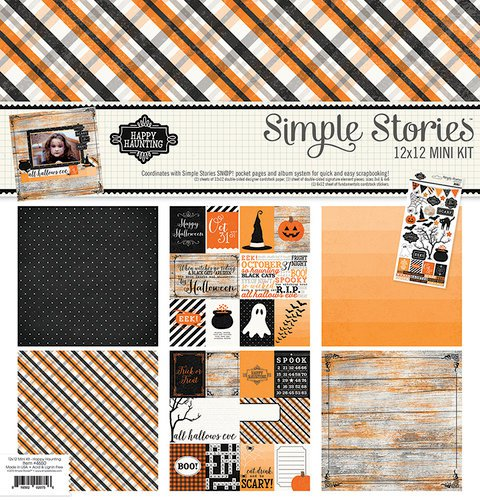 Simple Stories Happy Haunting, Simple Stories, Happy Haunting, Mini Kits, Scrapbooking, Halloween themed patterned paper, halloween patterned paper, scrapbooking, kits, paper packs, Simple Stories, Creative Scrapbooker Magazine, csmscrapbooker, Scrapbooking and cards