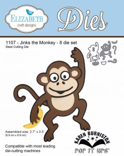 Elizabeth Craft Designs, Jinks the monkey, money die, Creative Scrapbooker Magazine, csmscrapbooker, Karen Burniston, scrapbooking, die cuts
