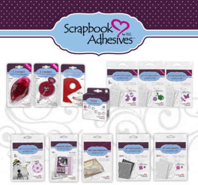 Scrapbook Adhesives by 3L, adhesives, Creative Scrapbooker Magazine, csmscrapbooker, scrapbooking adhesives, pop dots, foam squares, 3D adhesives, foam tape, tape runners, glue dots, foam shapes
