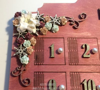 Katelyn Grosart, Creative Scrapbooker Magazine, csmscrapbooker, Southern Ridge Trading Co, Emerald Creek Crafts, Ranger, Tim Holtz,, Ideaology, Christmas, Advent calendars, Christmas advent calendars, altering chipboard, believe