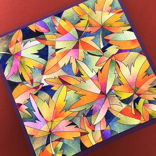 @bhung13 @csmscrapbooker #colour #coloring #card #fall #leaves #Tombow @tombowusa #technique