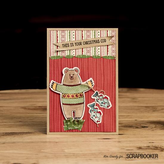 @kdgowdy@csmscrapbooker @stampinup #csmblog #creativescrapbookermagazine #cards #llama #bear #christmas #stamping #markers