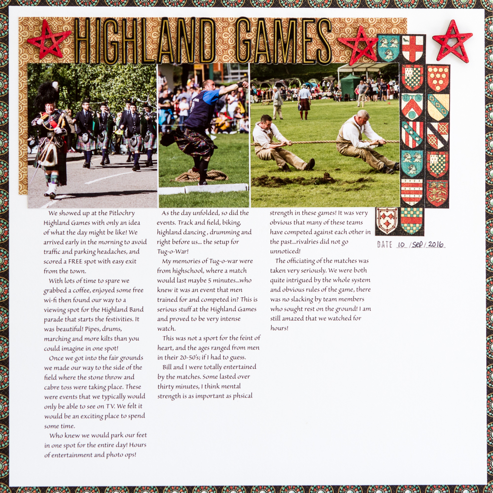 @csmscrapbooker @kdgowdy #simplestories #graphic45 #scrapbookadhesivesby3l #stampinup #highland #highlandgames #pitlochry #scotland @visitscotland #parade #marching #drums #tugowar #kilts #plaid #creativescrapbookermagazine #creativescrapbooker #csmscrapbooker #creativelife #diy #abeautifulmess