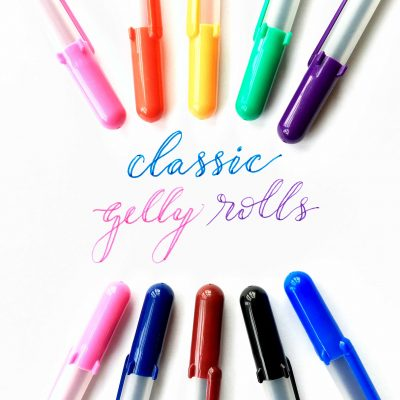 sakura-gelly-rolls, Sakura, Sakura gelly roll pens, classic gelly rolls, pens, handlettering, classic pens, Creative Scrapbooker Magazine, csmscrapbooker