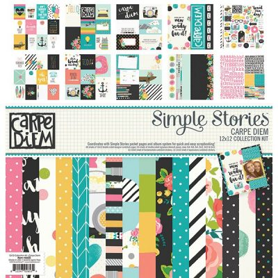 simple-stories-carpe-diem, Simple Stories, Creative Scrapbooker Magazine, csmscrapbooker, patterned paper pack, bight colours,