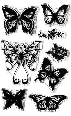 MultiCraft, Forever in Time, butterfly stamps, clear butterfly stamps, butterfly fancy collection, stamping, Creative Scrapbooker Magazine, csmscrapbooker