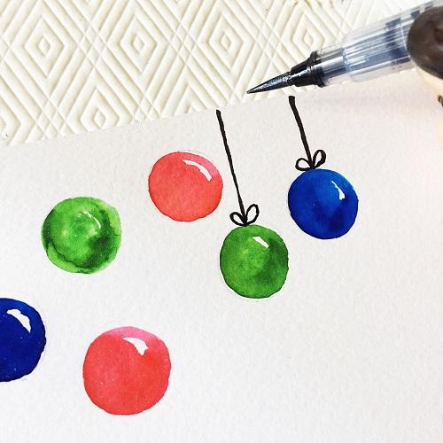 @csmscrapbooker @kellycreates @spectrumnoir #sparkle #christmas #holiday #card #glitter #christmasballs #lettering #handlettering #handmade #tombow @tombowusa