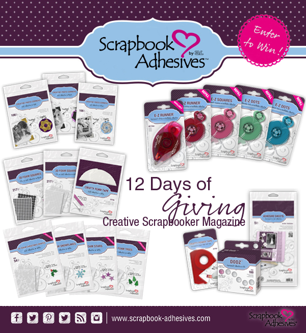 Scrapbook Adhesives by 3L, 12 Days of Giving, Creative Scrapbooker Magazine, csmscrapbooker, scrapbooking adhesive, christmas giving