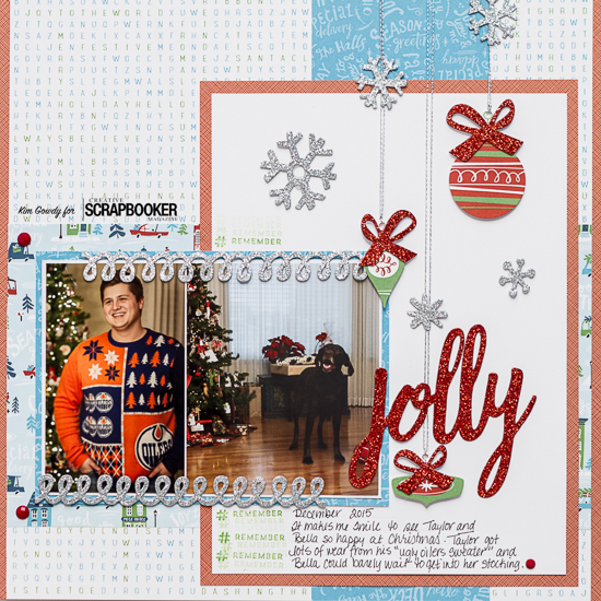 @csmscrapbooker @kdgowdy #closetomyheart #CTMY #citysidewalks #christmas #jolly #sketch #12x12layout