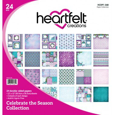 Heartfelt Creations, Creative Scrapbooker Magazine, 12 Days of Giving, Celebrate the Season Collection, Christmas, Christmas giving, patterned paper
