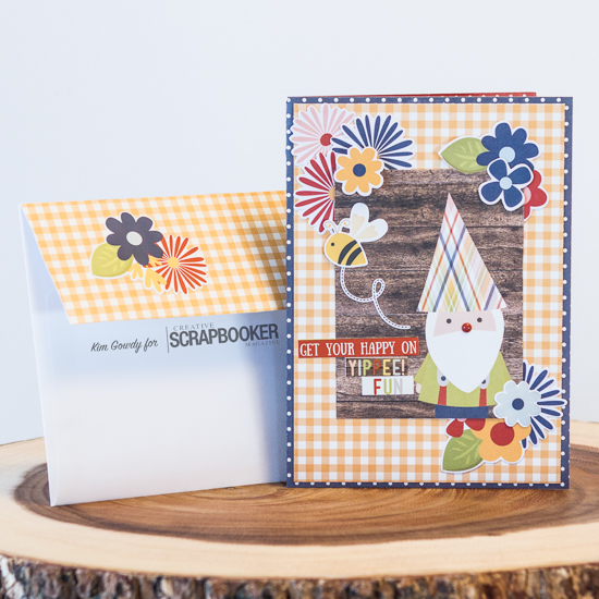 @csmscrapbooker @kdgowdy #simplestories #TCW #Tombow #clearsnap #thankful #card #gnome #gingham