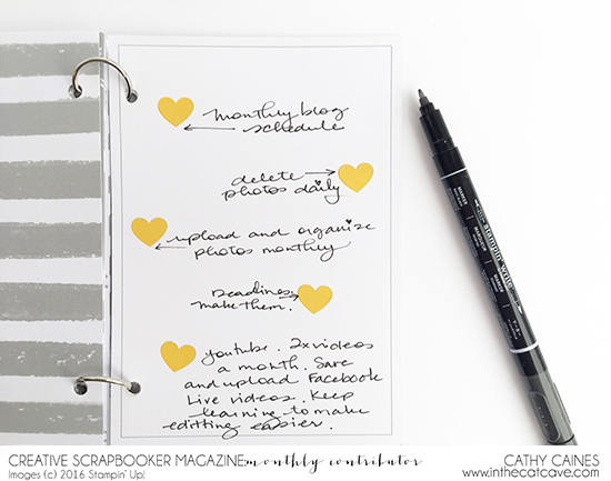 @csmscrapbooker @cathycaines @inthecatcave @stampinup #stamping #planner #planning #2017 #stamping