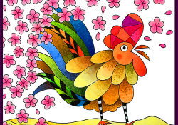 @csmscrapbooker @bhung613 #free #freebie #color #colouring #adultcolouring #card #cardmaking #rooster #2017 #happynewyear