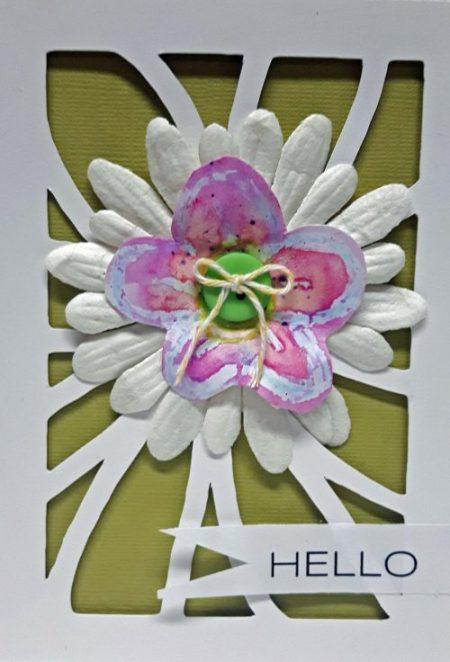 Karen Ellis #cardmaking #creativescrapbookermagazine #csmscrapbooker #waxcrayons #resist