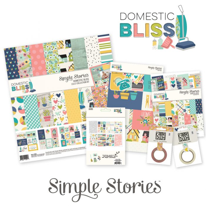 Simple Stories #simplestories #domesticbliss #creativescrapbookermagazine #csmscrapbooker #scrapbookingmagazine #scrapbookingsupplies #cleaningthemedsupplies