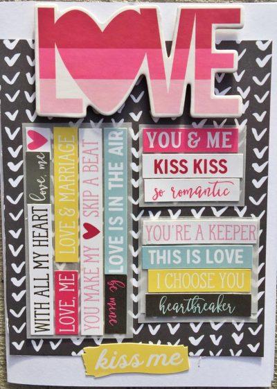 @simplestories @kerryengel @csmscrapbooker #simplestories #kerryengel #csmscrapbooker #creativescrapbookermagazine #loveandadorecollection #scrapbookadhesivesby3L #cardmaking #valentinecard #diycards #basedonasketch