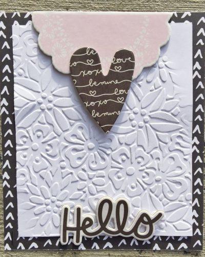 @simplestories @kerryengel @csmscrapbooker #creativescrapbookermagazine #csmscrapbooker #simplestories #elizabethcraftdesigns #embossingfolders #basedonasketch #kerryengel #hellocard #cardmaking #diycards