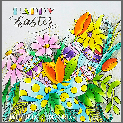 @colorartbybetty @bhung613 @chameleonpens @csmscrapbooker #bettyhung #chameleonpens #happyeaster #freecolouringcards #eastercards #adultcolouring #colouring