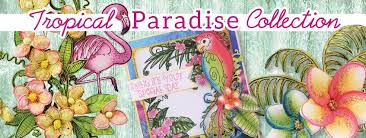 @heartfeltcreations @csmscrapbooker #heartfeltcreations #creativescrapbookermagazine #tropicalparadisecollection #flamingopatternedpaper #tropicalthemedscrapbooking