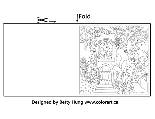 Free colouring page project template from CSM