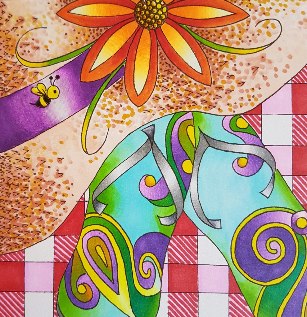 @csmscrapbooker @bhung613 @colorartbybetter @chameleonpens #bettyhung #csmscrapbooker #creativescrapbookermagazine #chameleonpens #freecolouringproject #adultcolouring #colortonepens #shadingwithonepen #onepenmanyshades #summercolouringproject #freeadultcolouringpages #adultcoloring