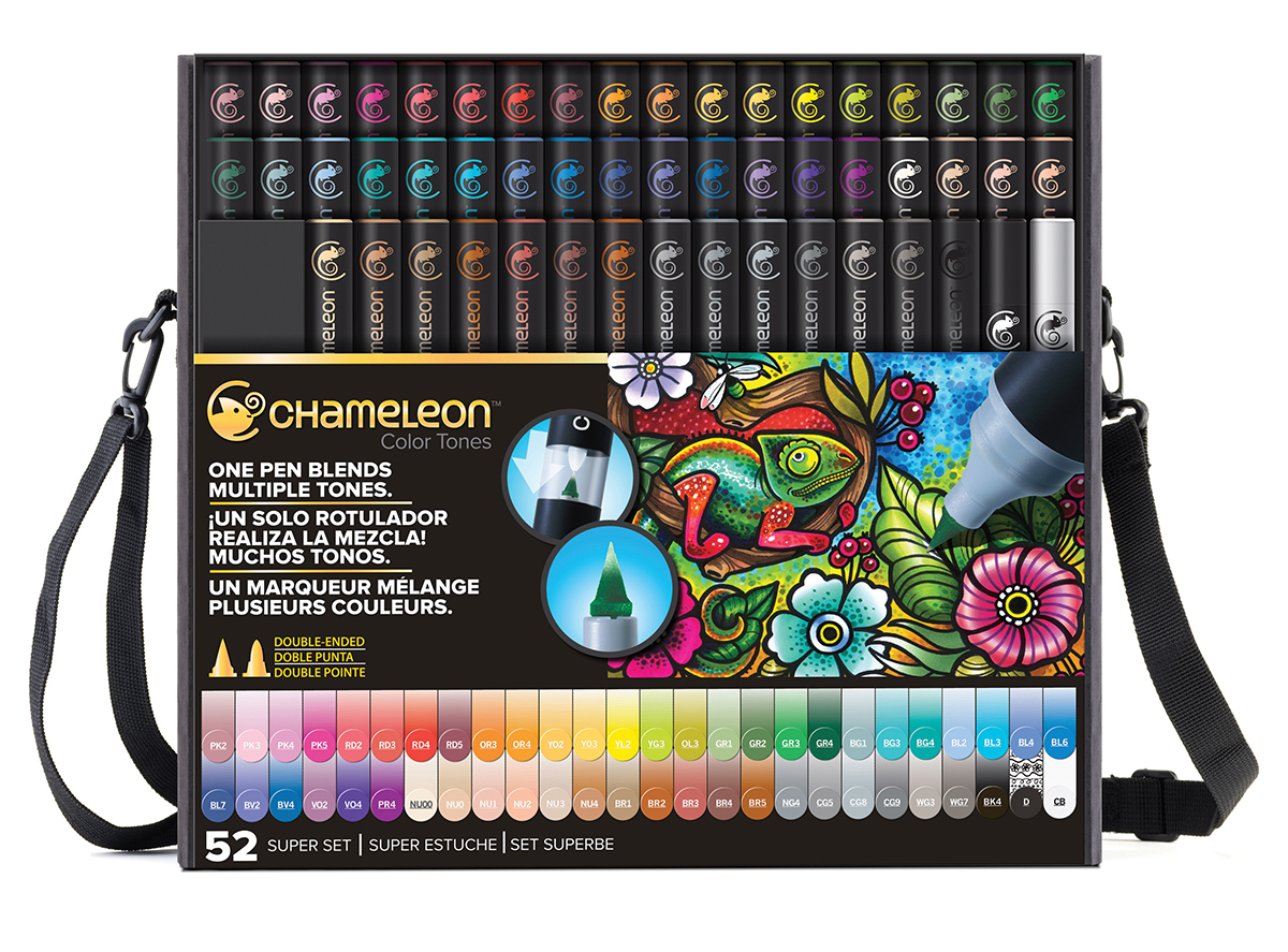 Complete collection of Chameleon Color Tones pens for coloring and shading.