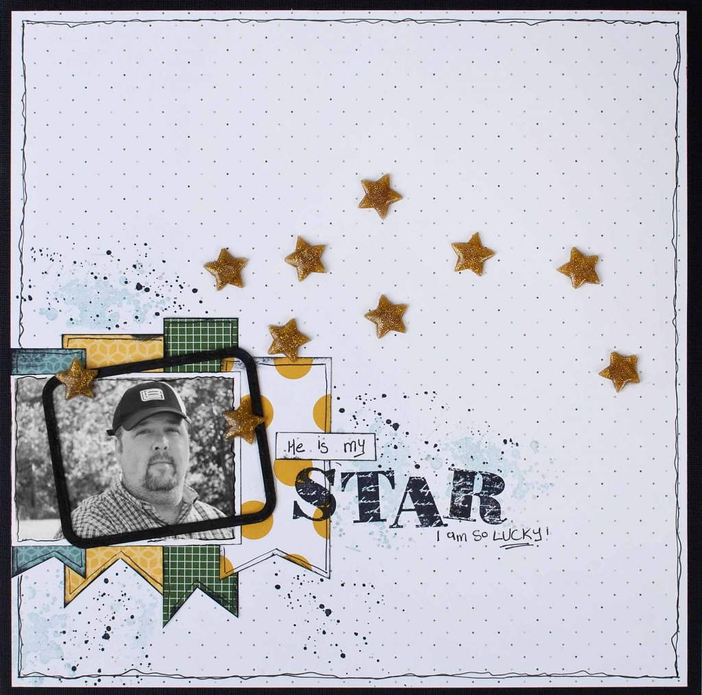 @christyriopel @csmscrapbooker @plaid #csmscrapbooker #creativescrapbookermagazine #mikeriopel #plaid #modmelts #resinsticks #stampinuppatternedpaper #sampinupalphabetstamps #12X12layouts