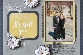 @csmscrapbooker @kdgowdy #creativememories #foreveryours #scrapbooking #layout #dimensionalflowers