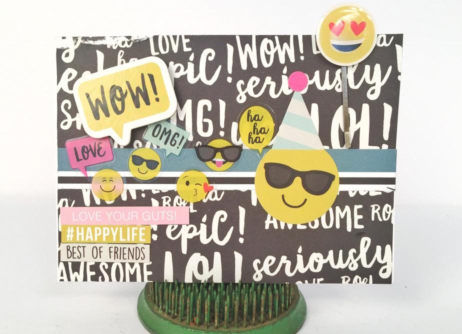@engelbelle @simplestories @csmscrapbooker @sbadhesives3l #kerryengel #simplestories #csmscrapbooker #creativescrapbookermagazine #emojiilove #scrapbookingwithemojies