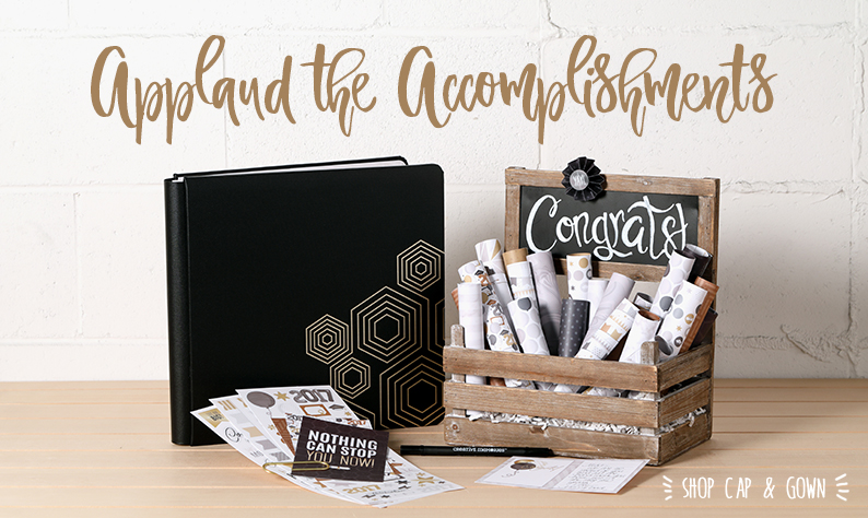 @csmscrapbooker @cmgroup #creativescrapbookermagazine #csmscrapbooker #creativememories #capandgowncollection #graduationthemedsupplies #gradthemed #scrapbookinggrad #blackalbum #scrapbooking #predesignedpages