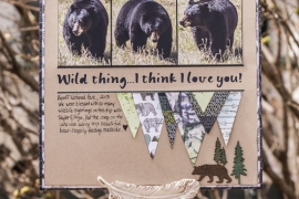 @csmsccrapbooker @kdgowdy #scrapbooking #nationalscrapbookingday #wildwhisperdesign #rangerink #scrapbookadhesivesby3L #wildlife #bears #triangles #adventure #dylusions