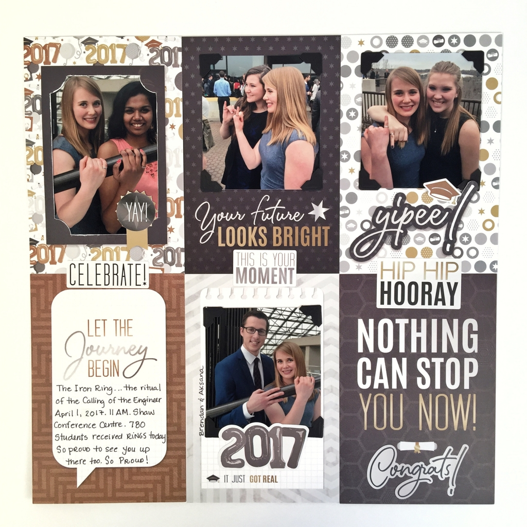 @csmscrapbooker @cmgroup #creativescrapbookermagazine #csmscrapbooker #creativememories #capandgowncollection #graduationthemedsupplies #gradthemed #scrapbookinggrad #Kerryengel #pocketscrapbooking #matpack #blackalbum #scrapbooking #predesignedpages