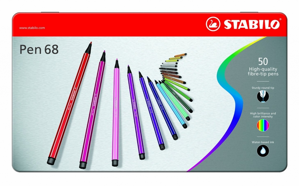 @csmscrapbooker Stabilo 68 pens for scrapbooking, coloring and paper crafting.