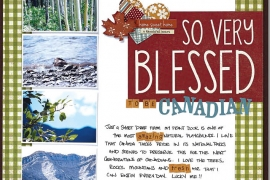 @csmscrapbooker @christyriopel A scrapbook layout with photos of Canadian landscape. Celebrating the beauty of being Canadian